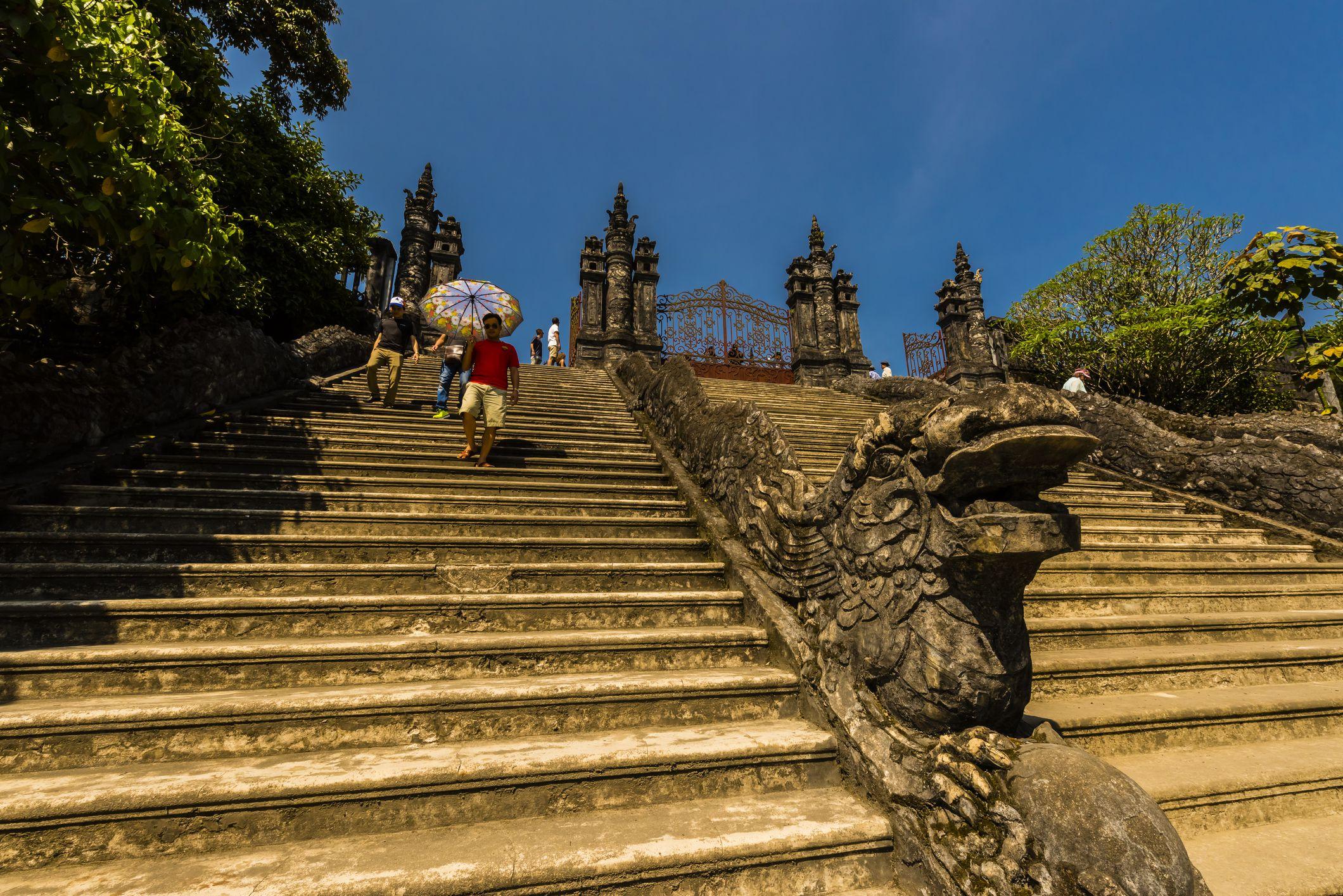 Steps leading to Khai Dinh Tomb, Hue, Vietnam