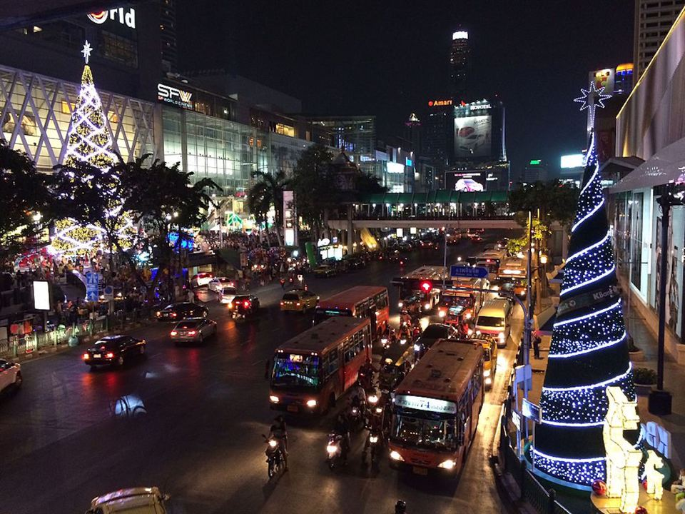 Christmas lighting displays in Bangkok