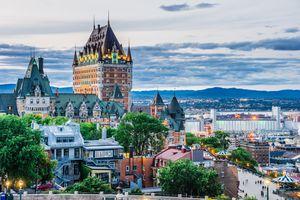 Quebec City at sunset