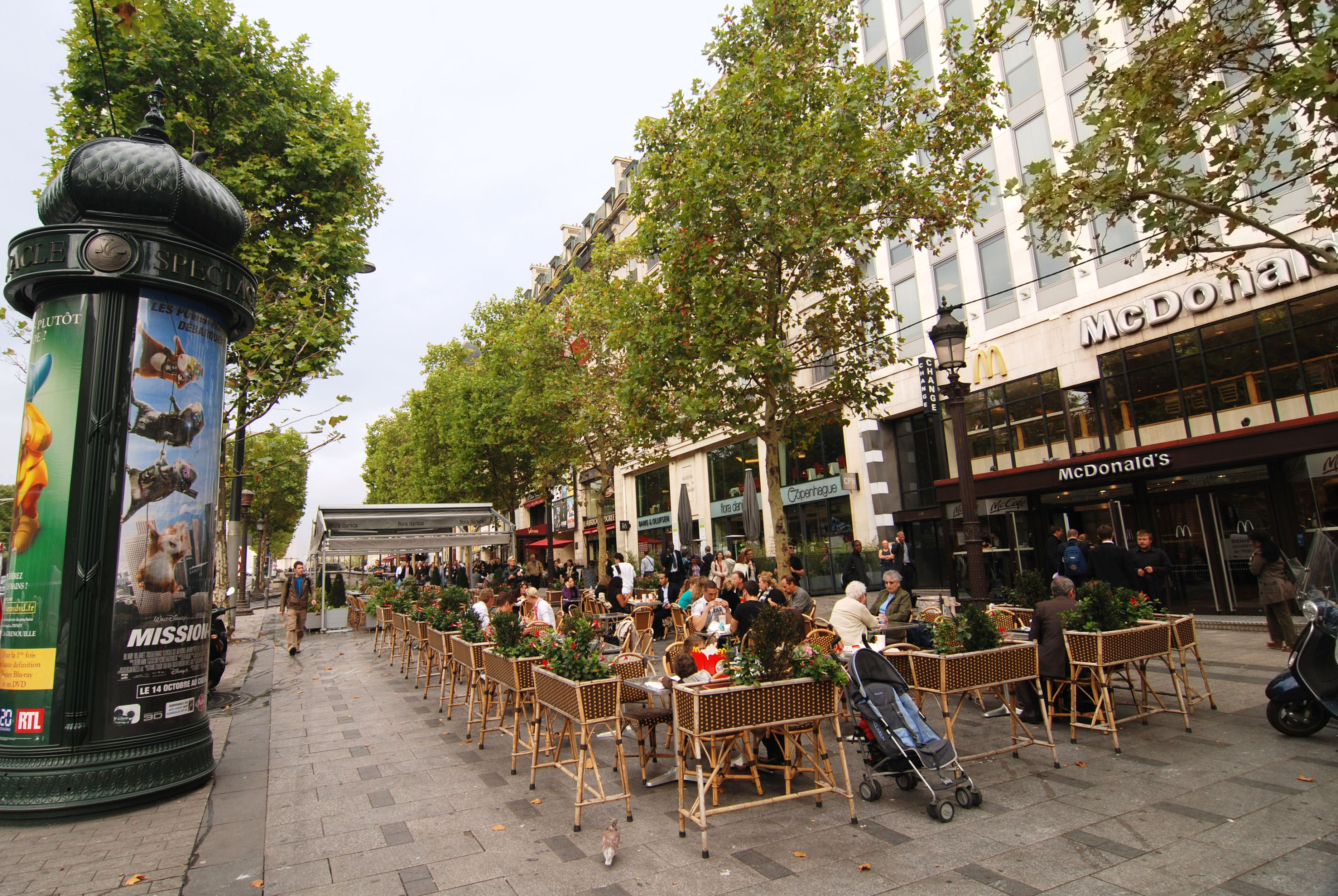 McDonalds on Champs Elysees in Paris