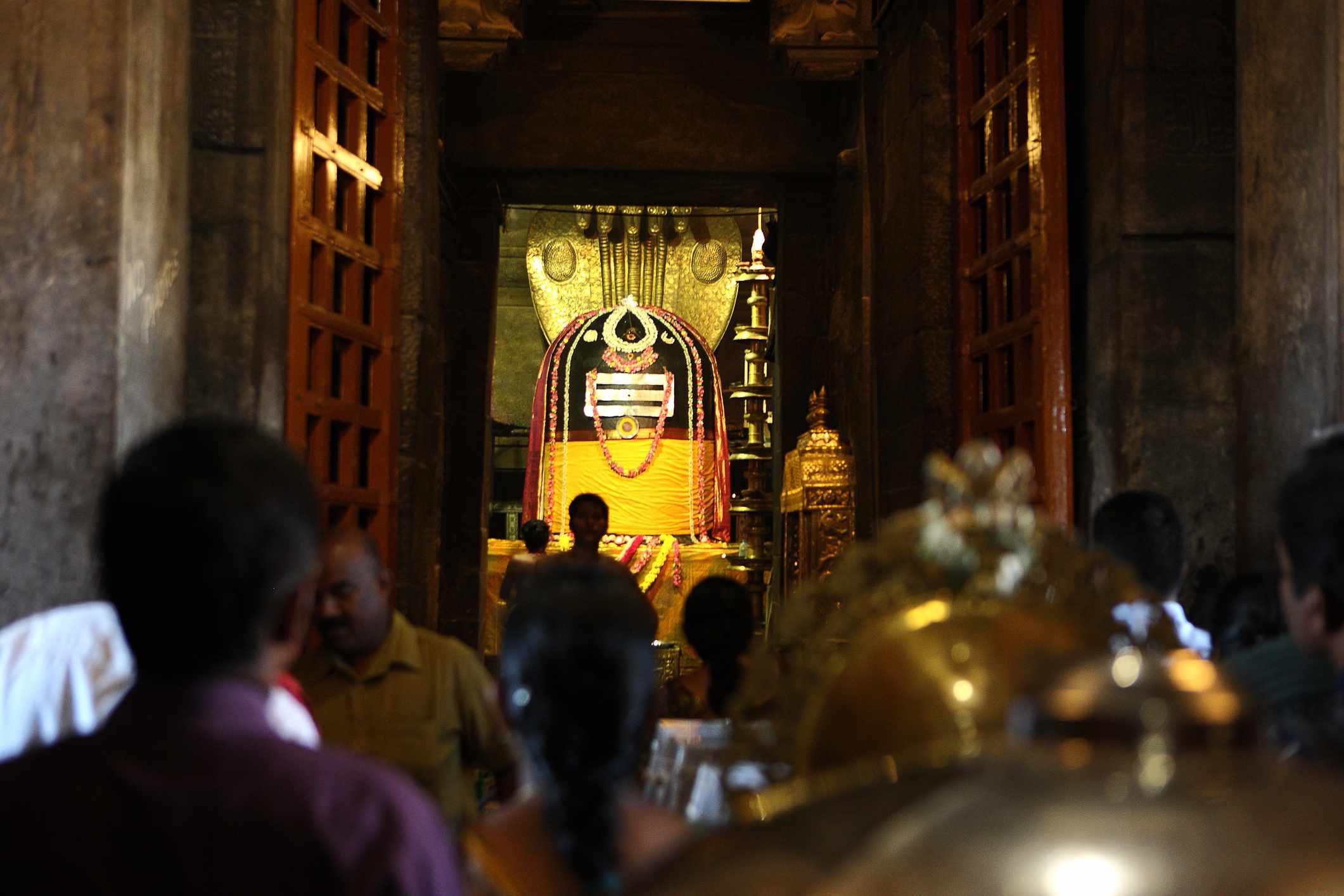 Shiva Lingam at the Big Temple, Thanjavur.
