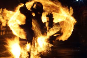 Stonehaven Fireball Swingers Disappear in Flames