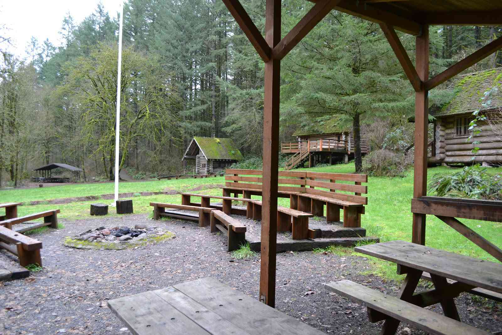 Picnic area with fire pit