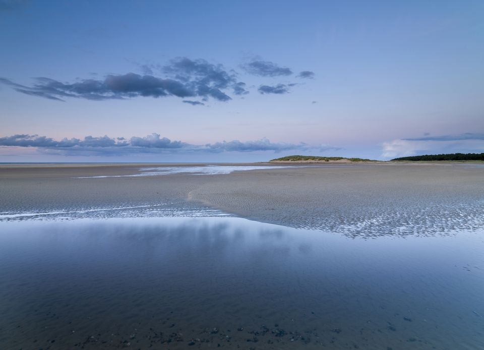 A scene from Holkham bay in North Norfolk