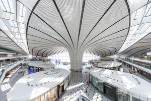 Interior of Daxing International Airport in Beijing
