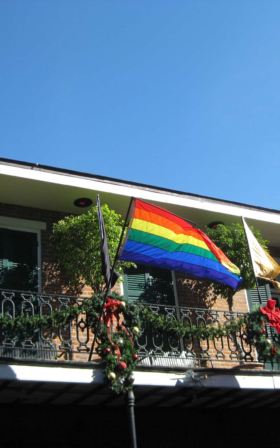 Rainbow flags in the French Quarter