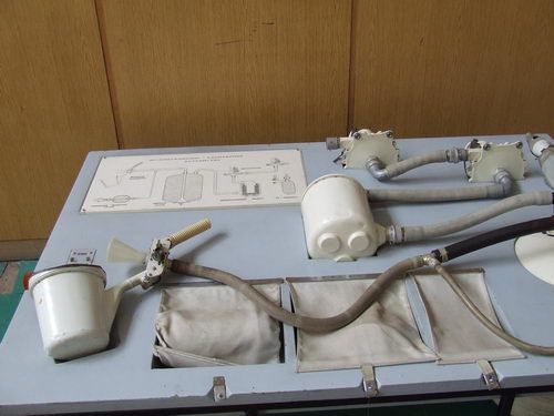 Cosmonaut's Bathroom Facilities on First Space Flights at Star City