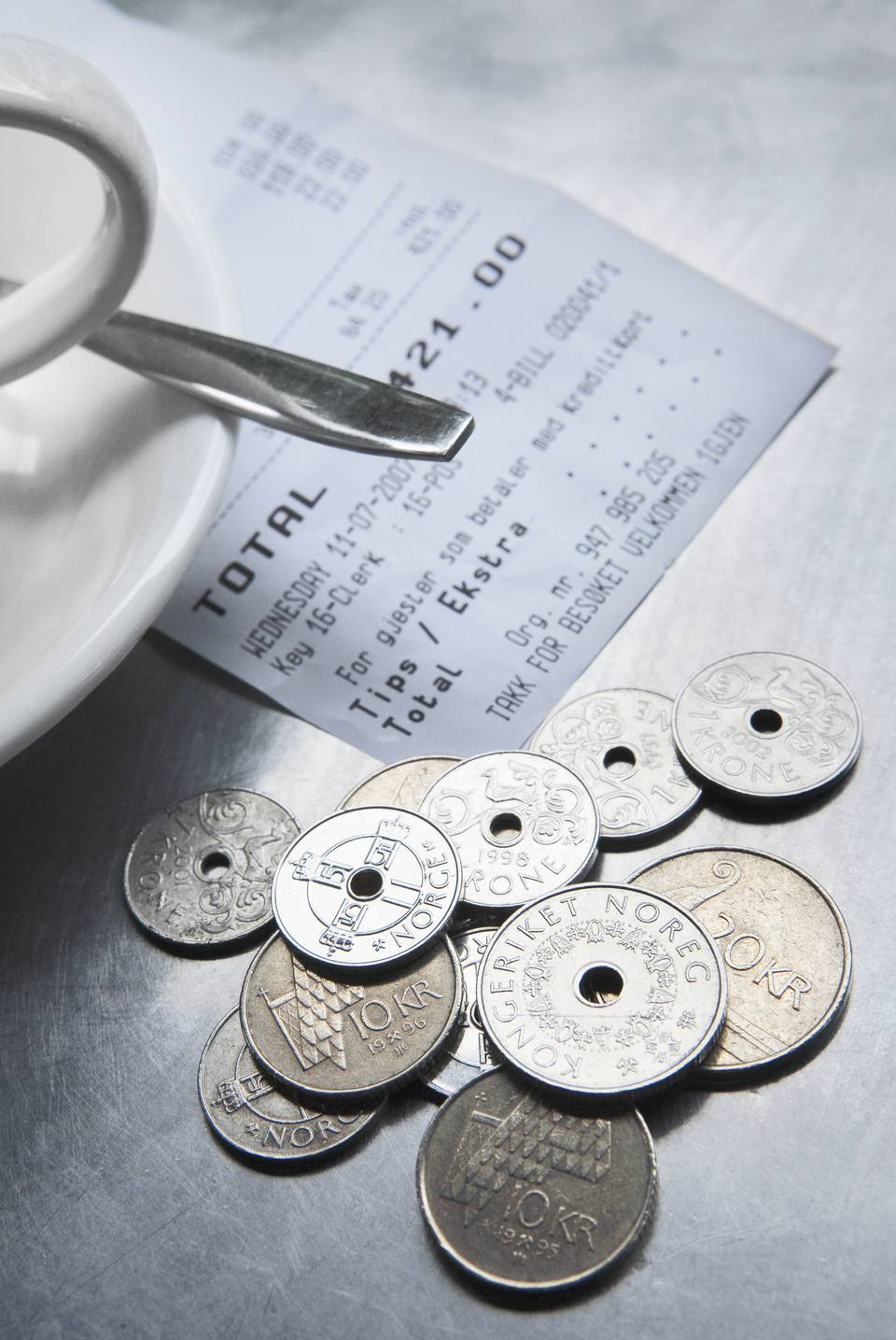 Things you should avoid in norway norwegian coins with a tea cup and a saucer on a table oslo norway reheart Images
