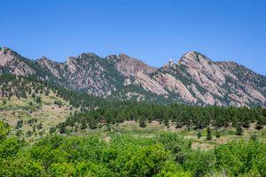 The Flatirons in Boulder, Colorado