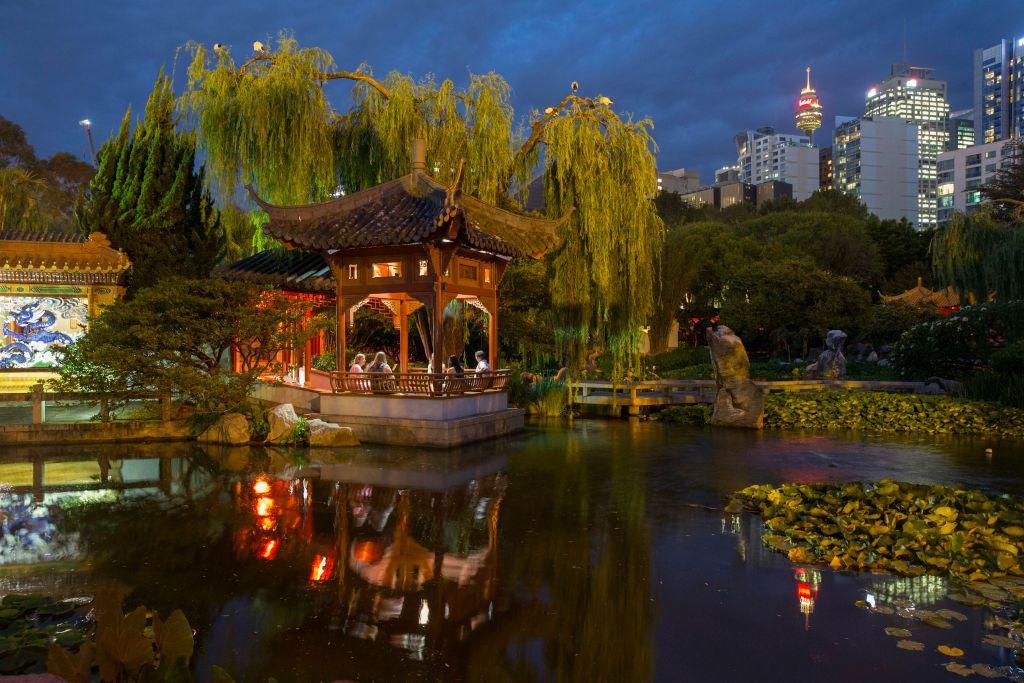 Chinese Garden of friendship at night