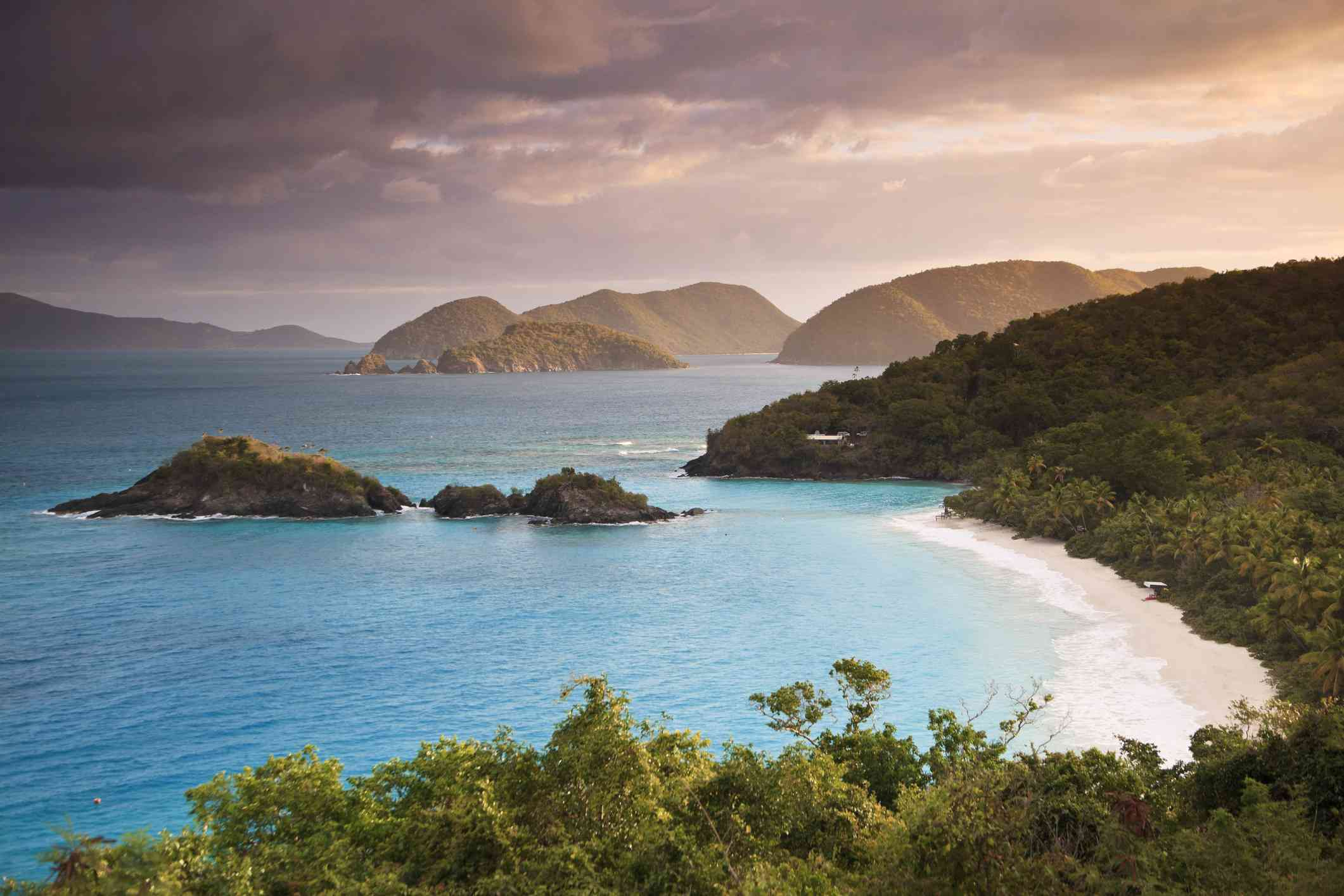 Caribbean, US Virgin Islands, Virgin Islands, St. John, National Park, Trunk Bay