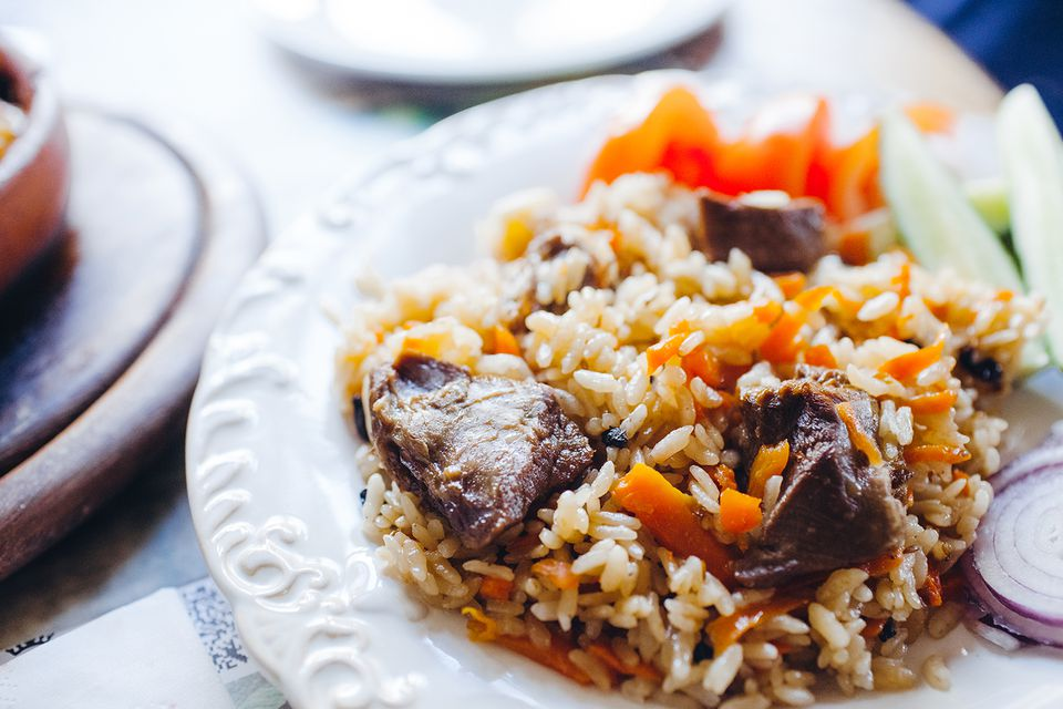Plove or Pilaf (pilau) with lamb meat