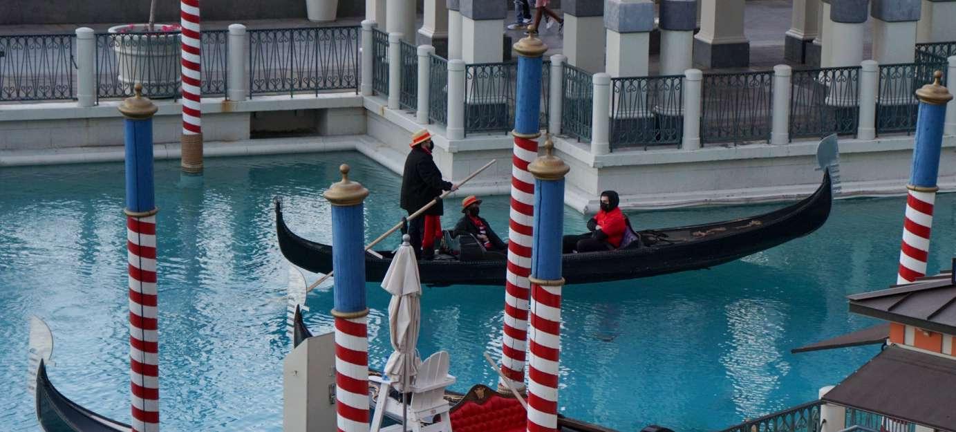 The gondola ride at the Venetian, Las Vegas
