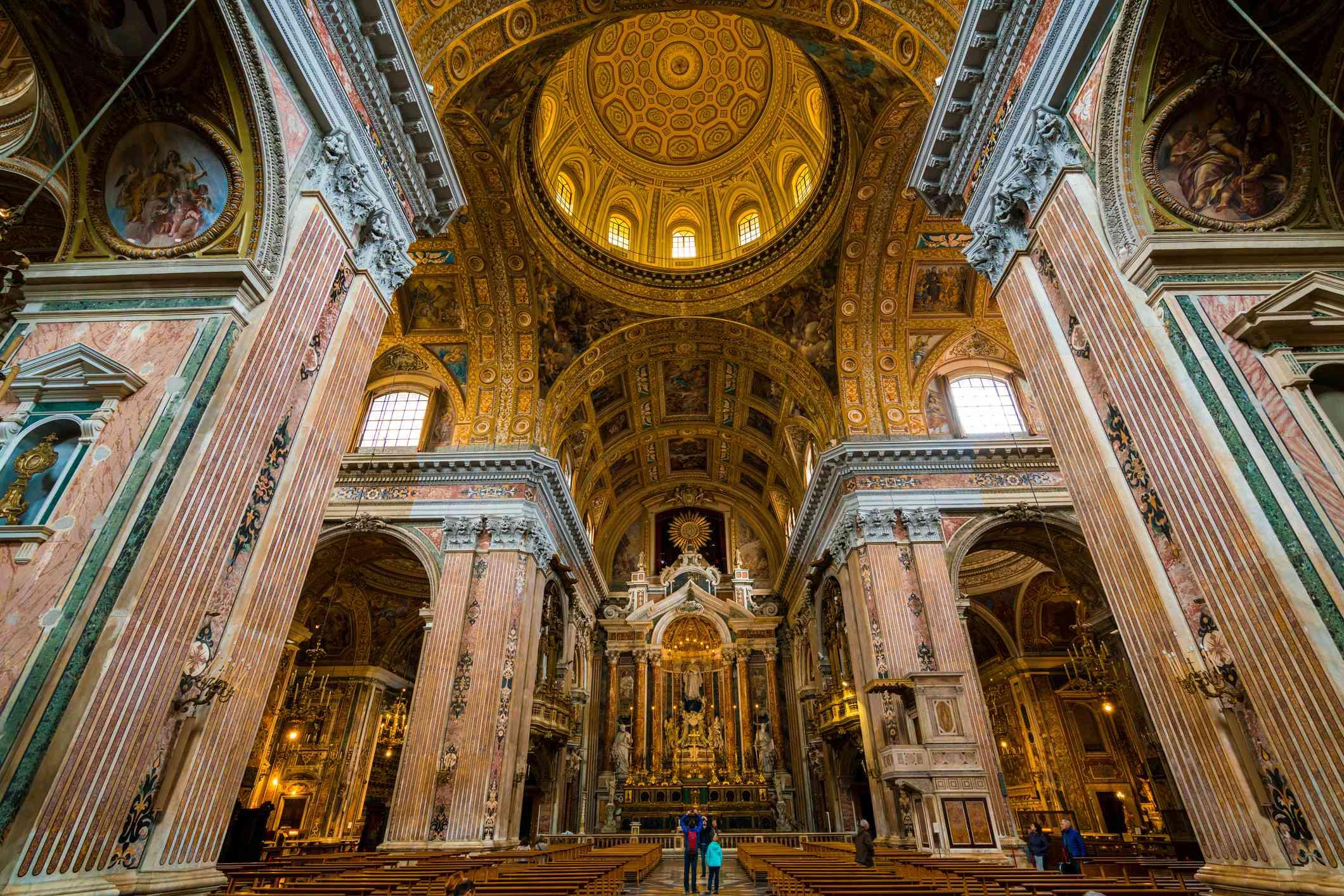 Interior of Chiesa del Gesù Nuovo, Naples