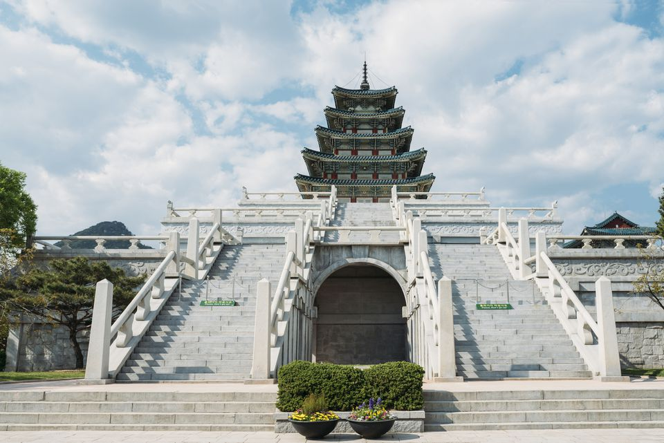 South Korea, Seoul, the National Folk Museum of Korea, inside Gyeongbokgung Palace