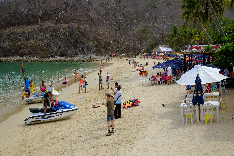 Beach Huatulco Mexico Oaxaca Pacific Ocean