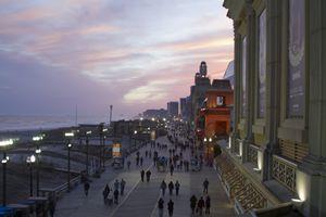 Bird's eye view of Atlantic City's boardwalk