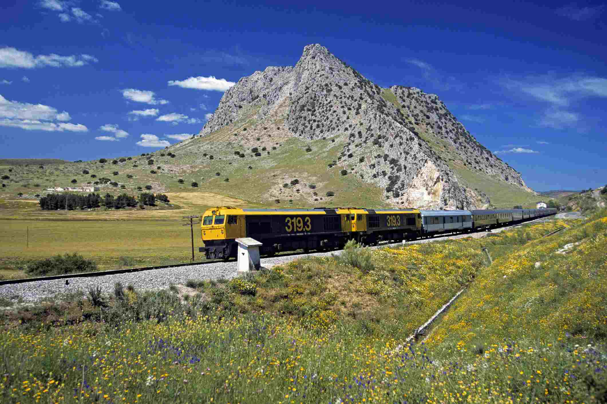 Spain, Andalusia, Granada Province, El Andalus Expreso, luxurous train, journey during 6 days through Andalusian landscape