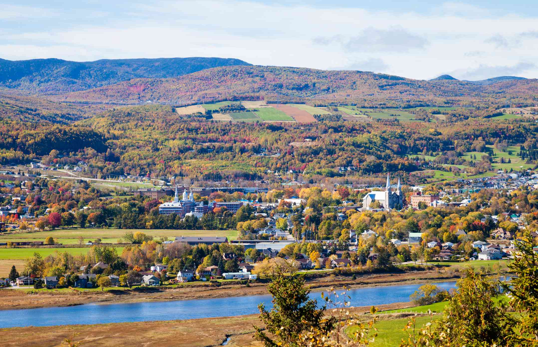 View of Baie-Saint-Paul, Quebec, Canada