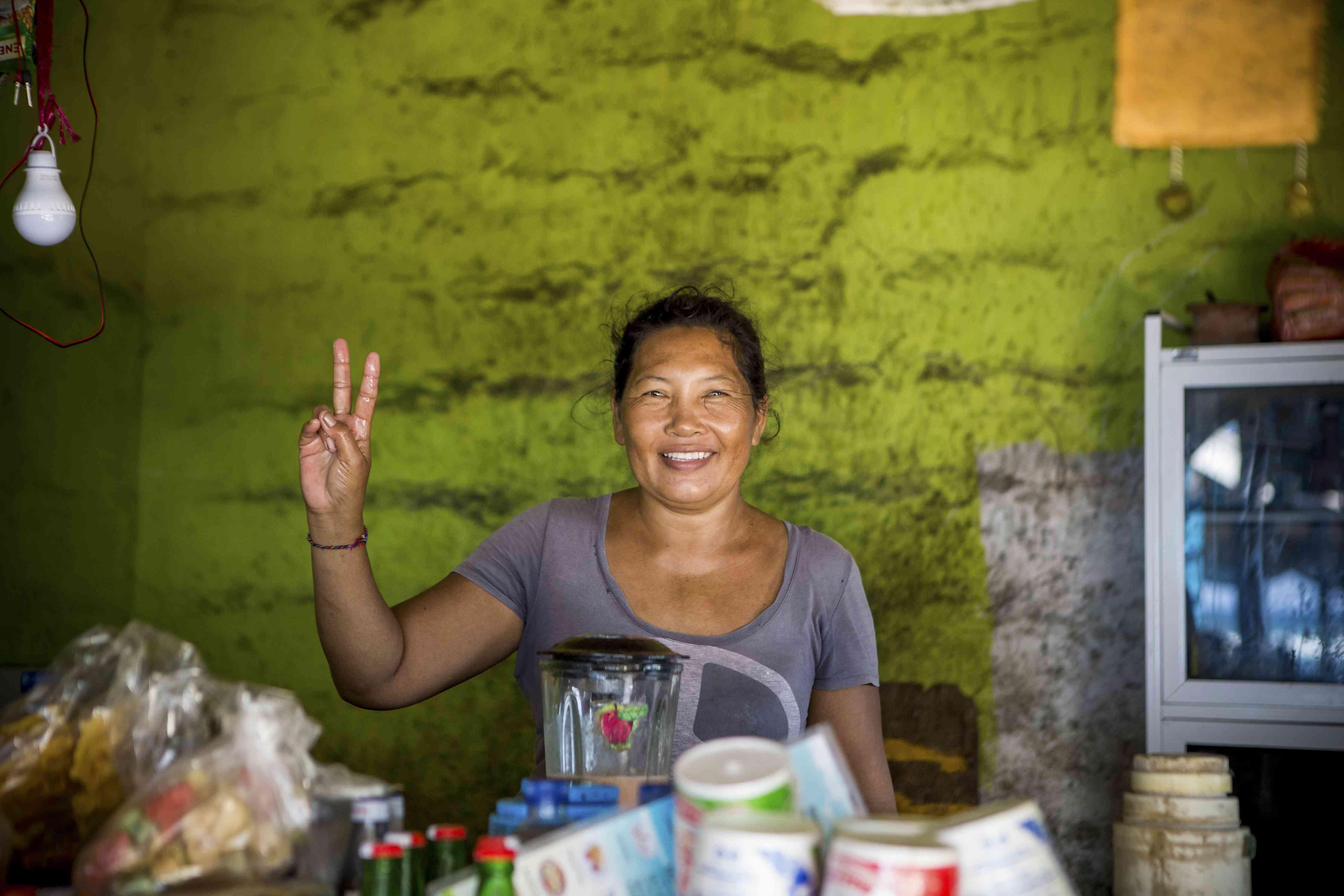 Balinese woman smiling