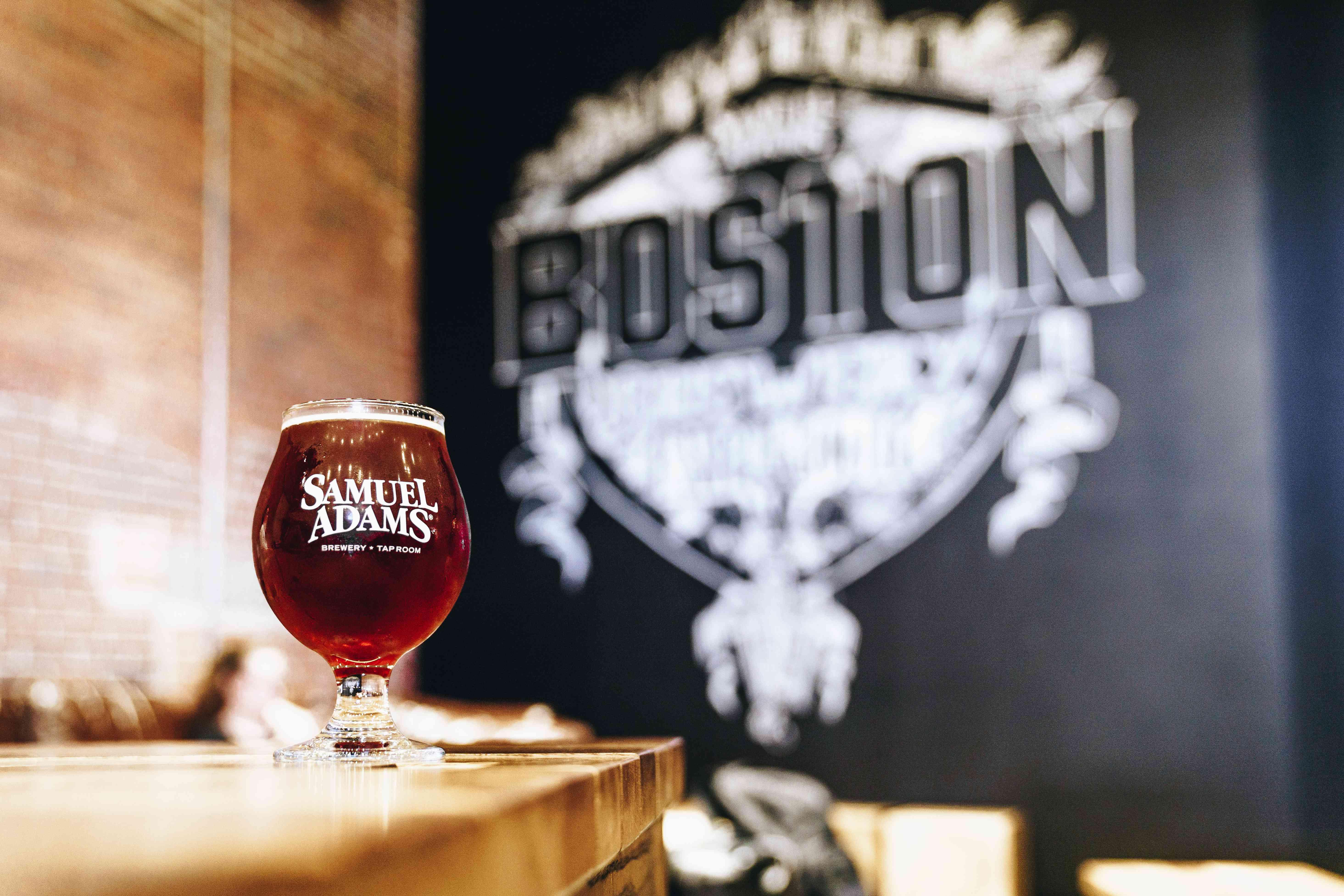 A beer at Sam Adams Brewery