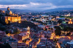 Tbilisi (Republic of Georgia) at dusk