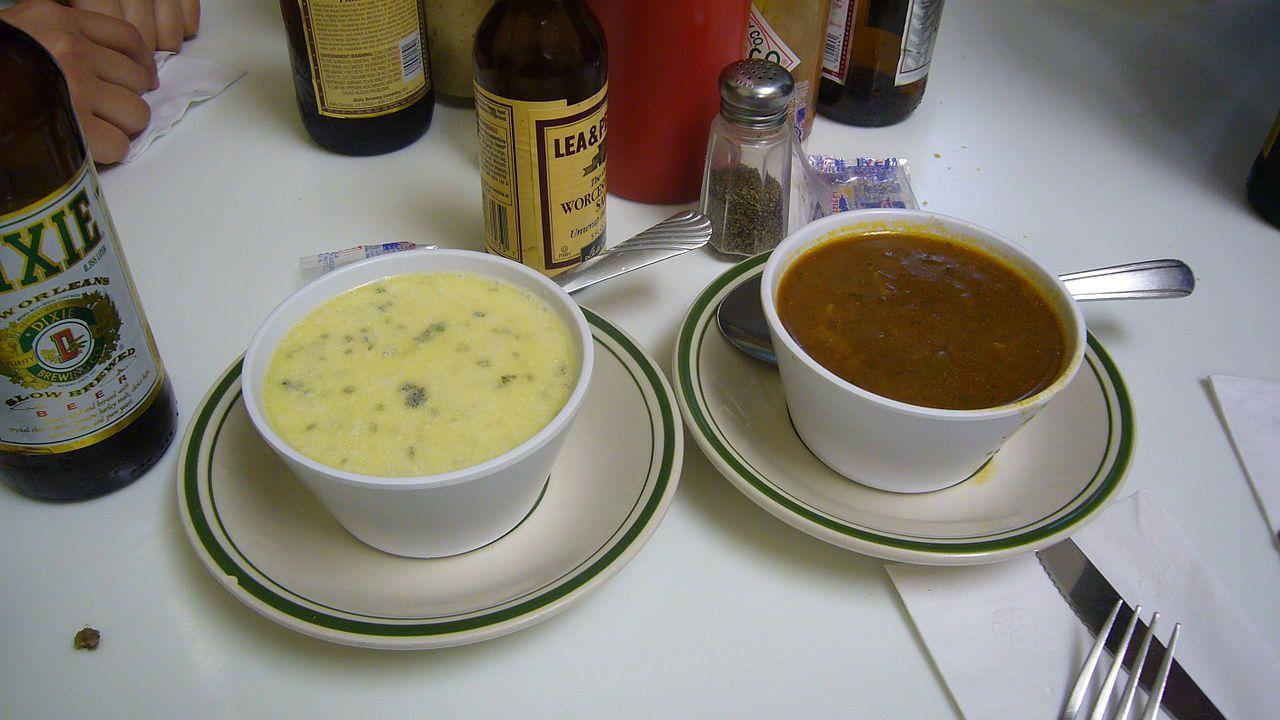 Oyster stew, gumbo. Casamento's restaurant, New Orleans.