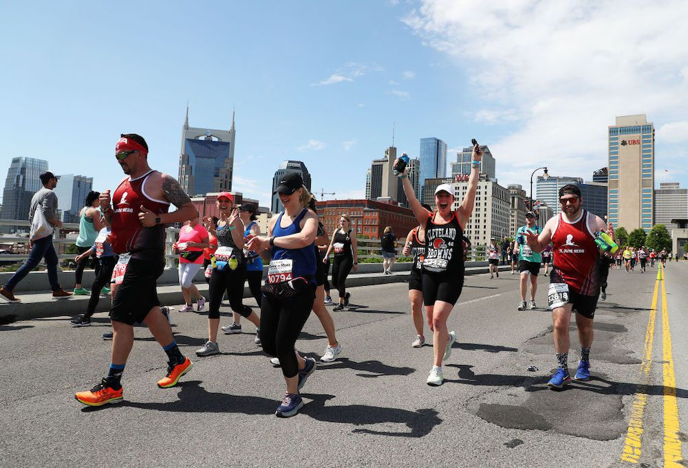 Runners in the Rock 'n' Roll Marathon in Nashville.