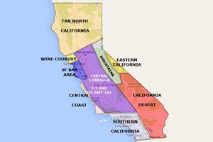 California Regions Map