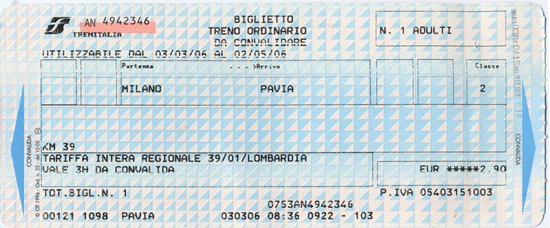 italian train ticket, train ticket picture