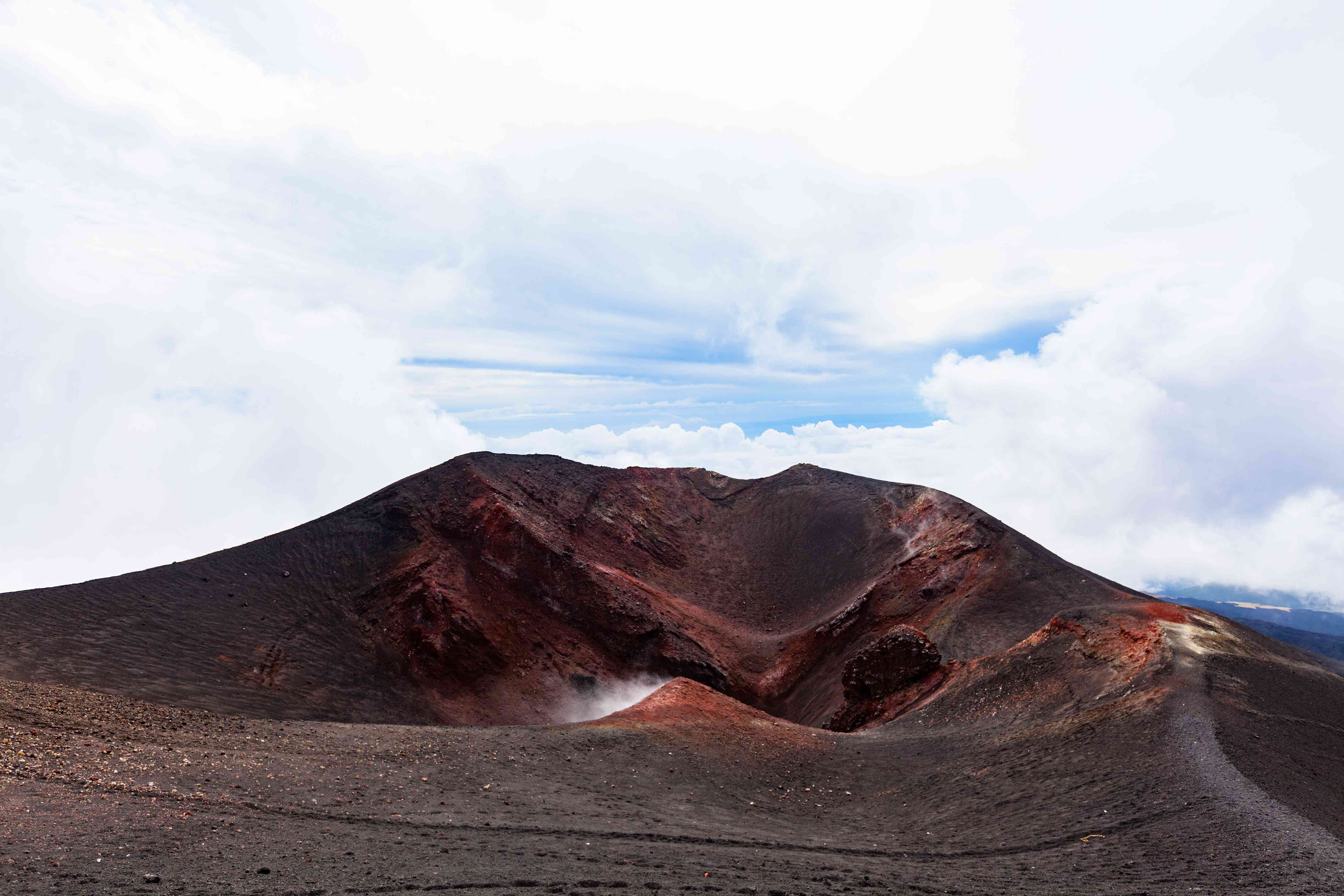 Southeast Crater of Mount Etna, Tallest Active Volcano in Continental Europe, Sicily, Italy