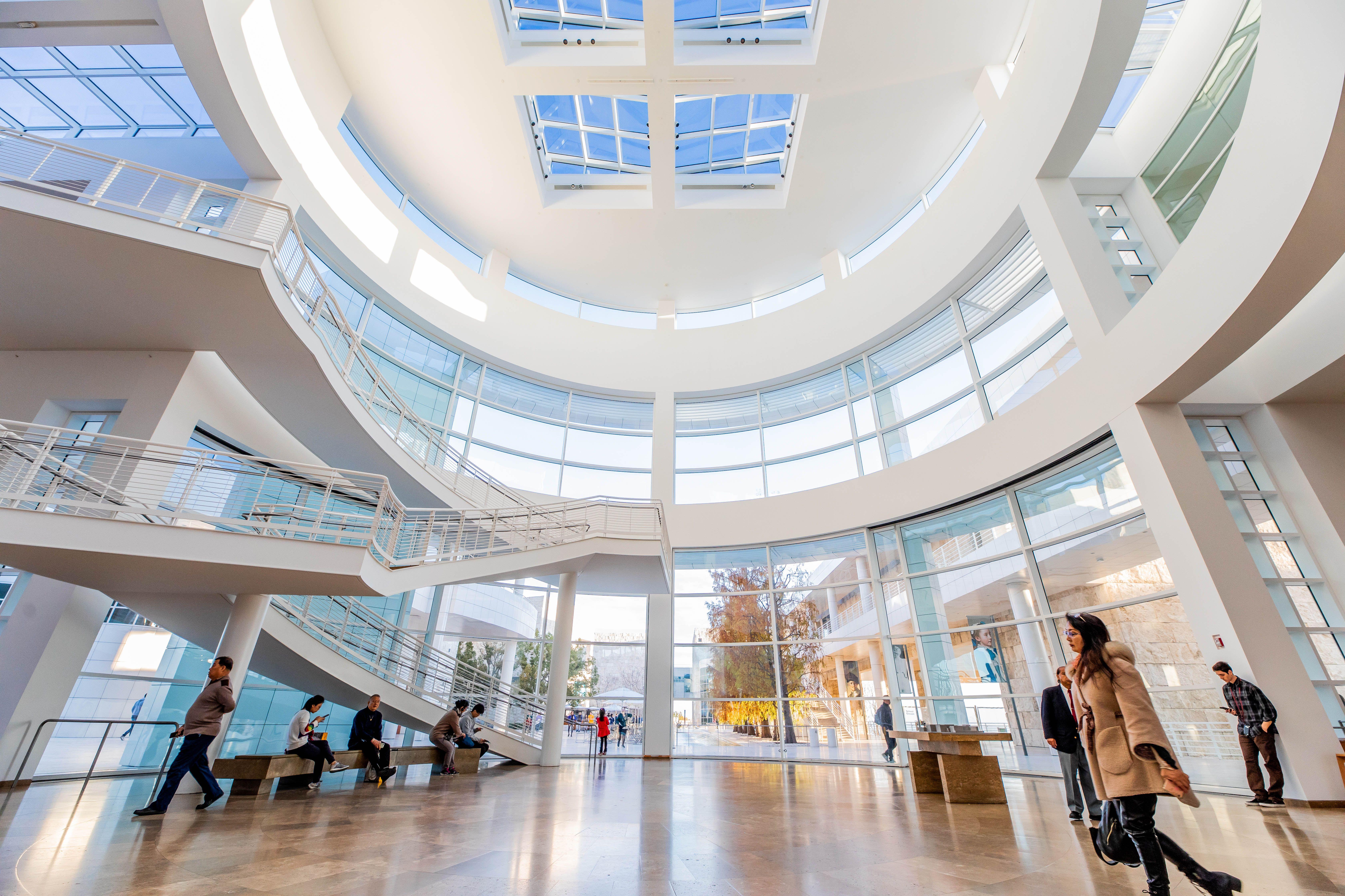 Dentro del Centro Getty