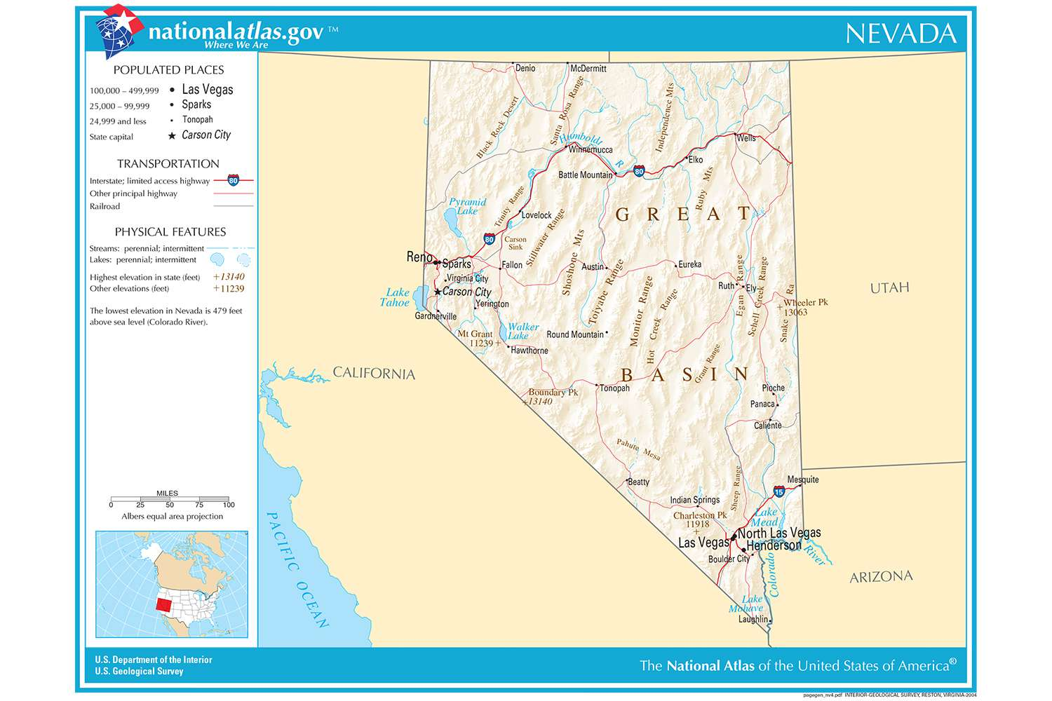 Map Of Arizona Nevada.Maps Of The Southwestern Us For Trip Planning