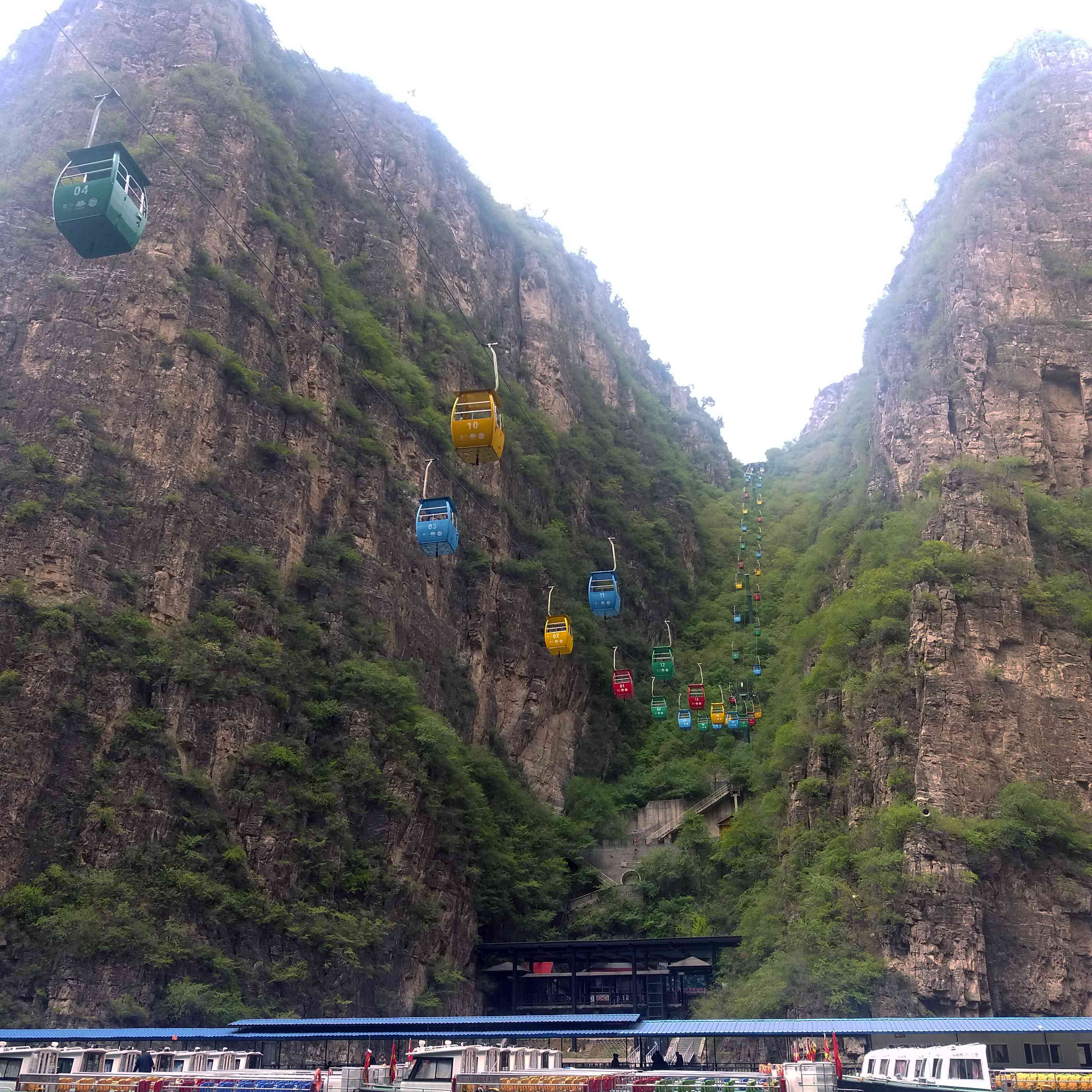 Cable cars and boat cruises at Longqing Gorage