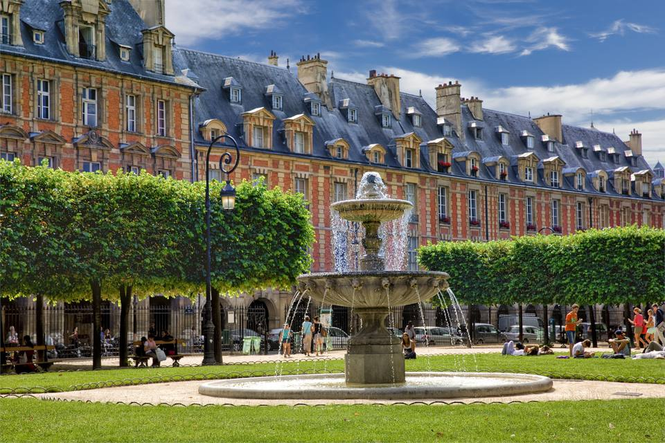 The Place des Vosges is one of Paris' loveliest squares