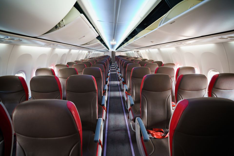 Seats on a commercial airline