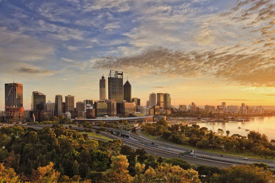 Perth at sunset
