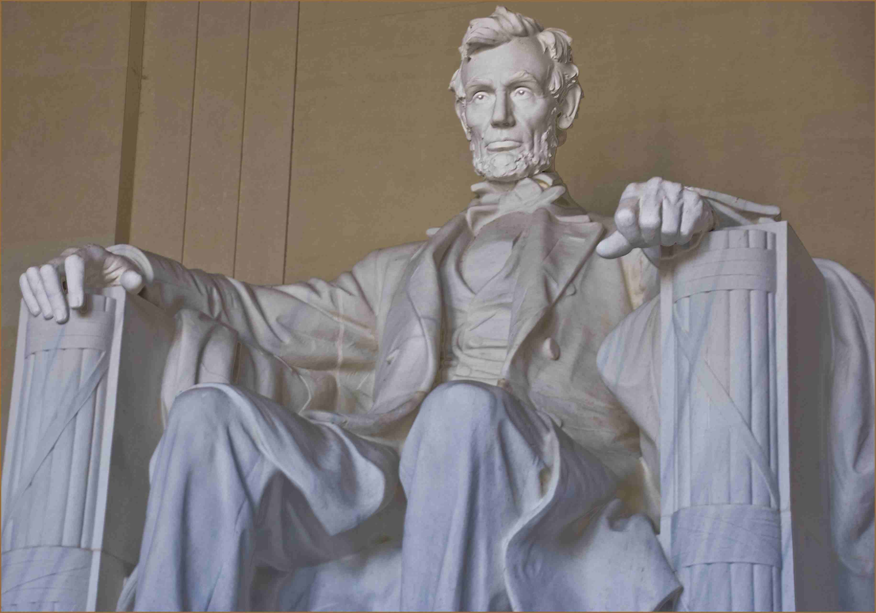Abraham Lincoln statue at the memorial in DC