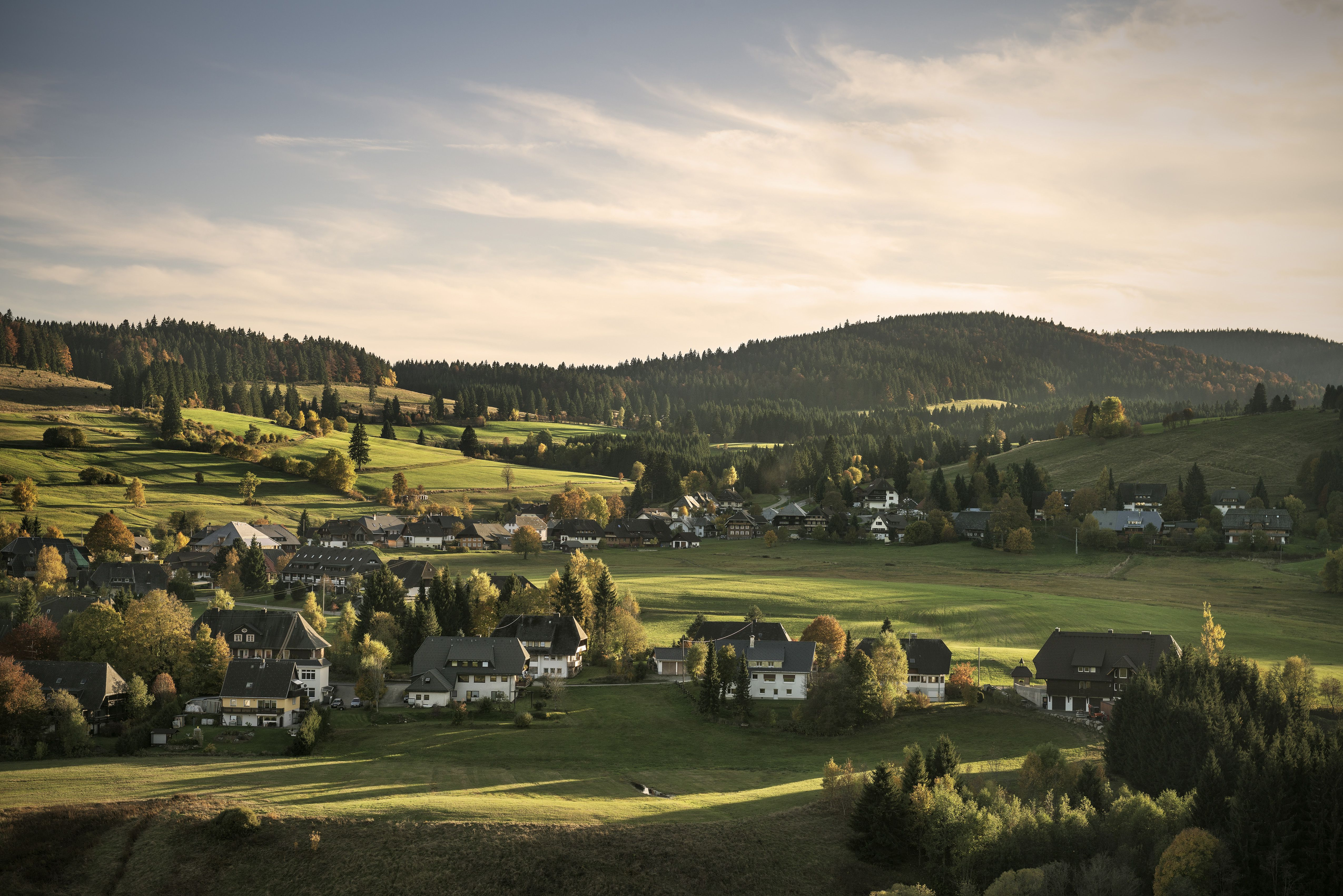 View of a typical village near the Black Forest