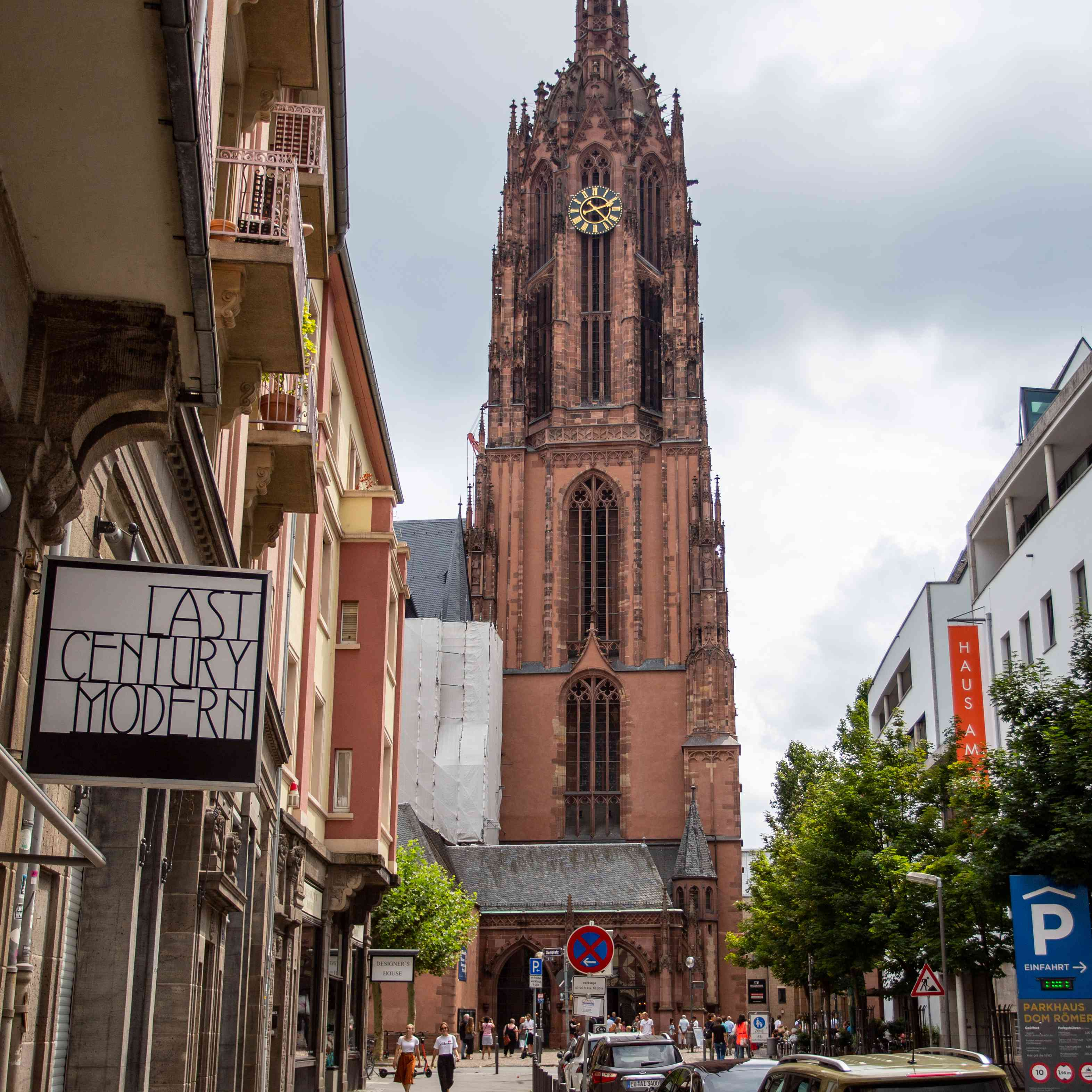 View of the tower at Frankfurt Cathedral