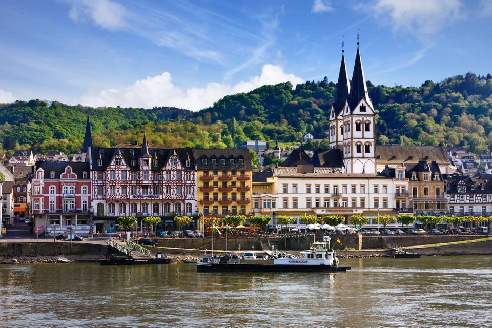 Boppard and River Rhine, Germany Europe