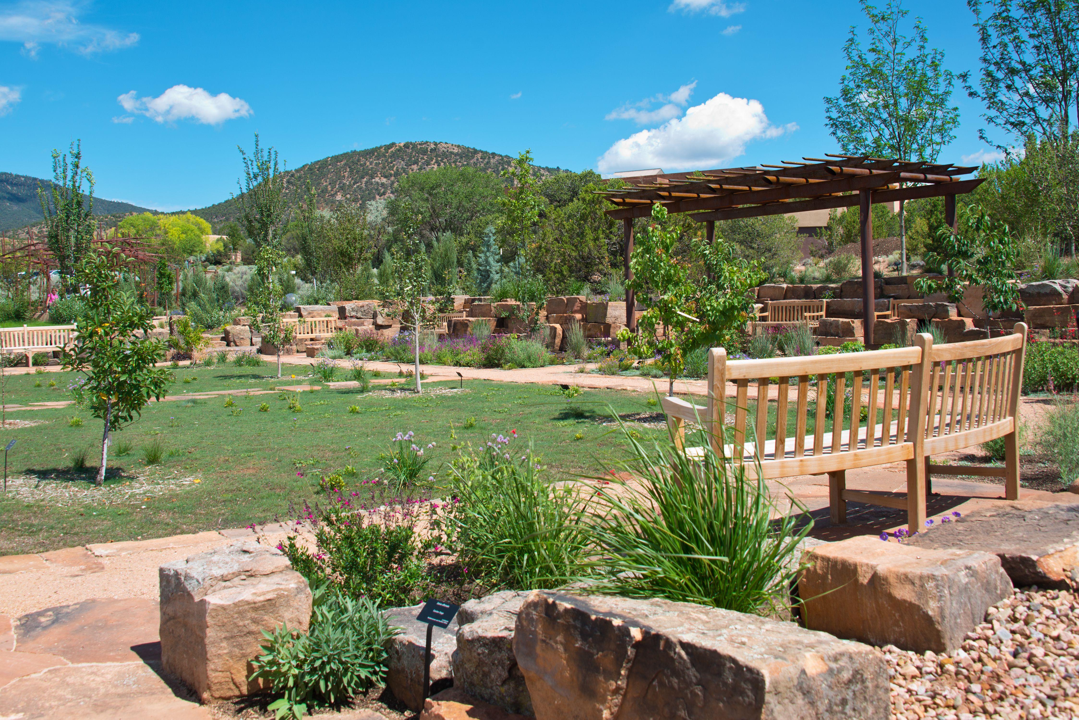 Flagstone Patio in Santa Fe Botanical Garden