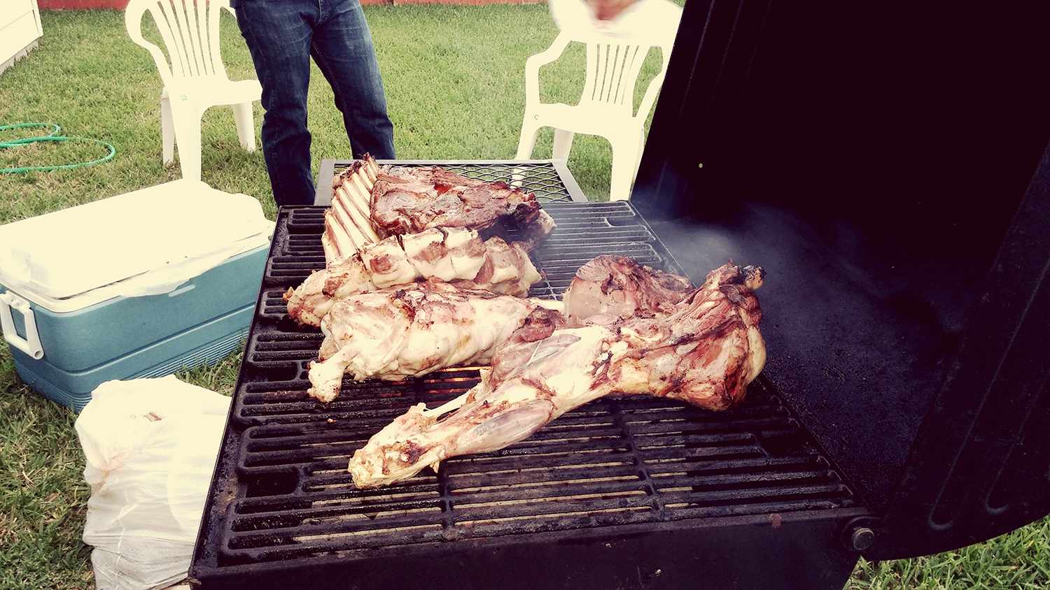 Goat on the BBQ