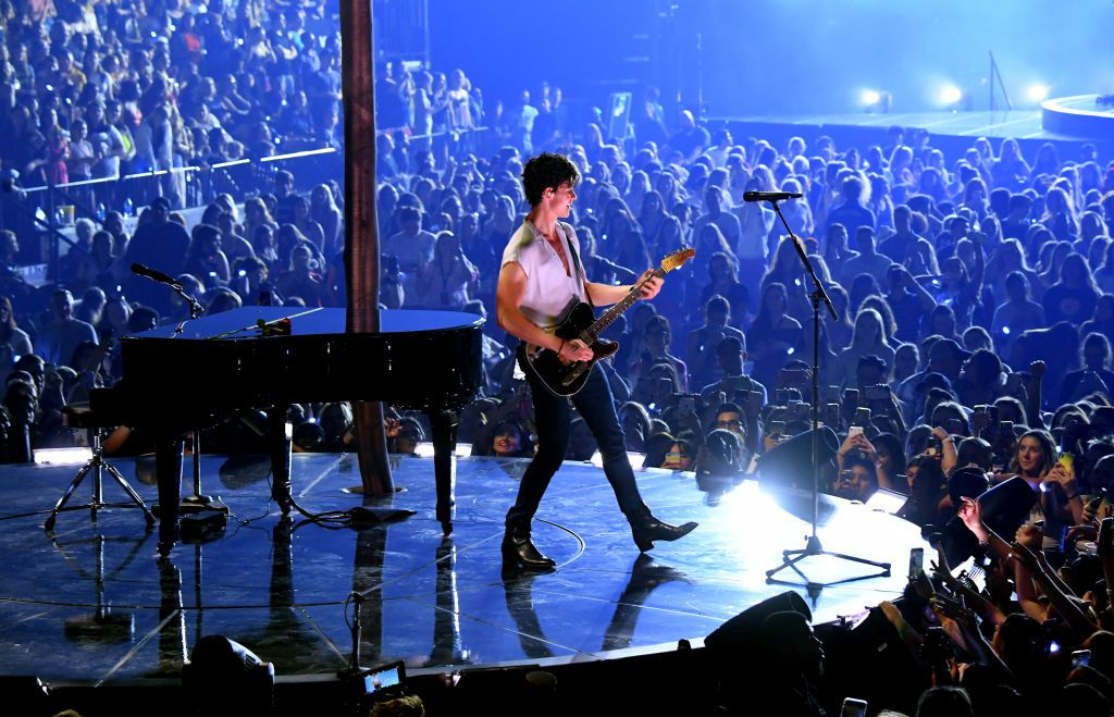 Shawn Mendes performs during the kick off of the North American leg of