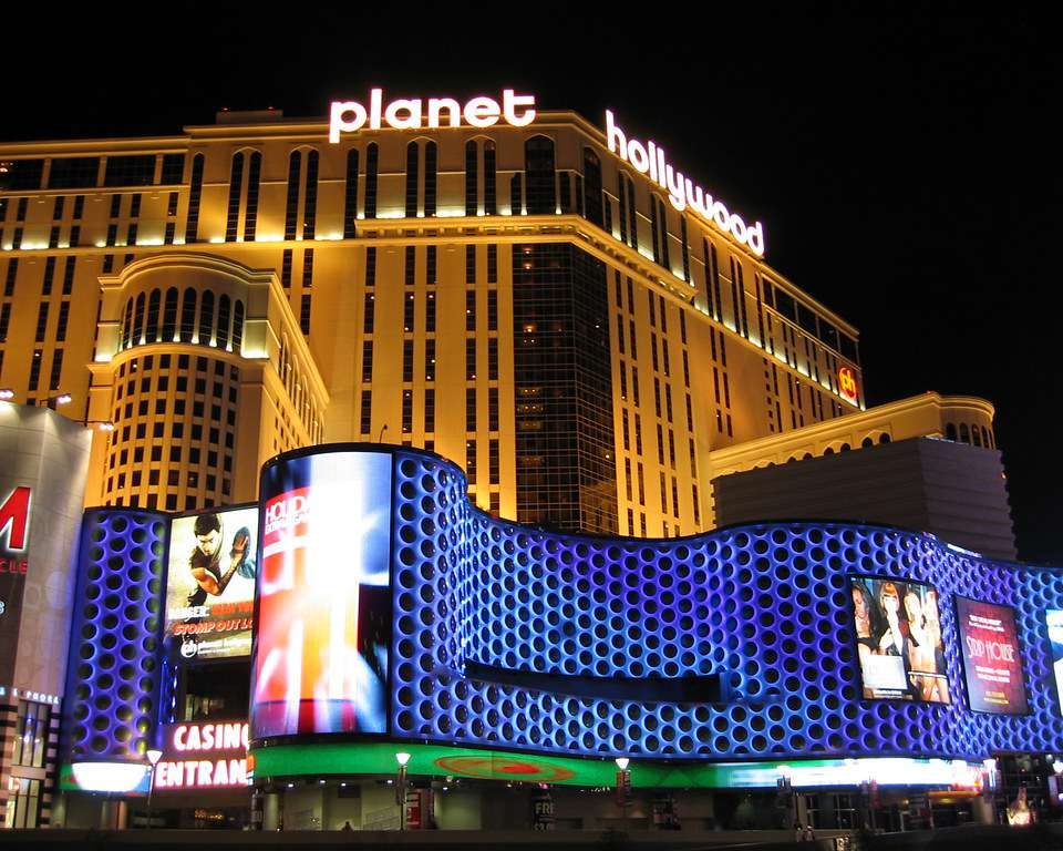 The exterior of Planet hollywood resort and casino
