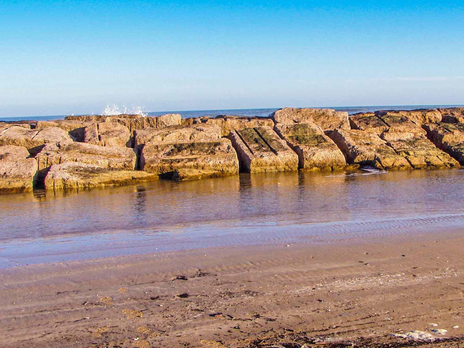 Stone Pier on Matgorda Bay