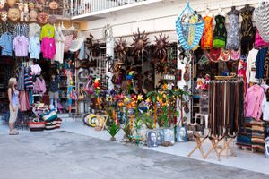 Local shops in Rocky Point, Mexico.