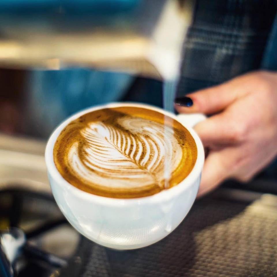 latte with latte art