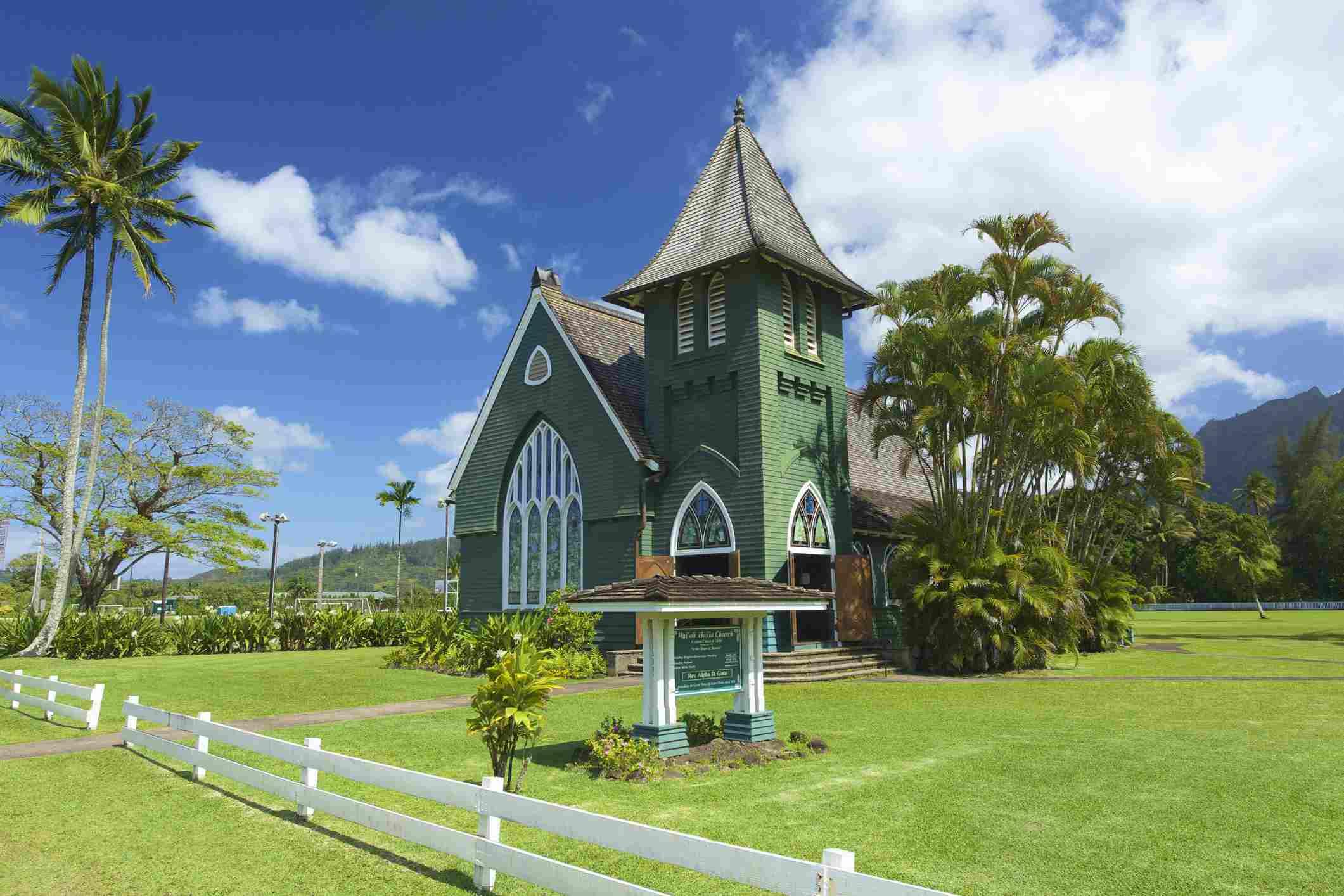 Waioli Hui'ia Church in Hanalei on Kauai