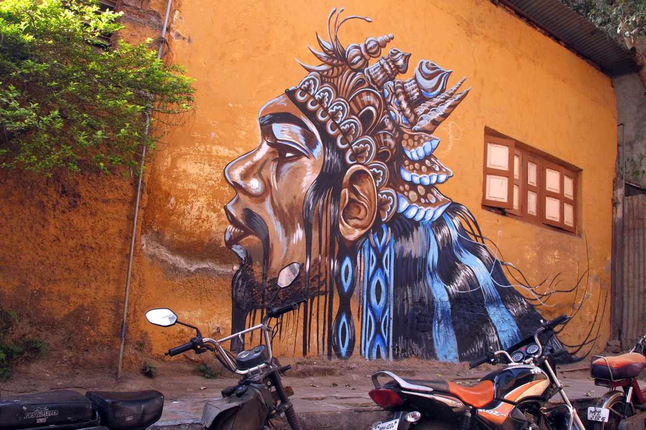 Street art in Kasba Peth, Pune.